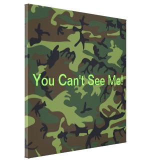 Camuflaje verde militar impresión en lienzo