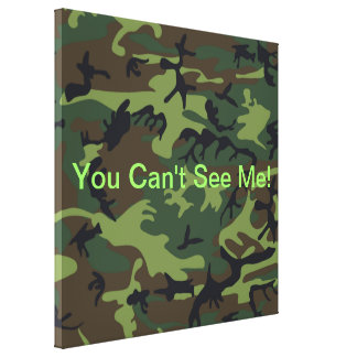 Camuflaje verde militar lienzo envuelto para galerías