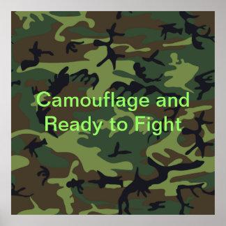 Camuflaje verde militar posters