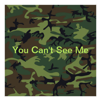 Camuflaje verde militar poster