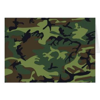 Camuflaje verde militar tarjeta pequeña
