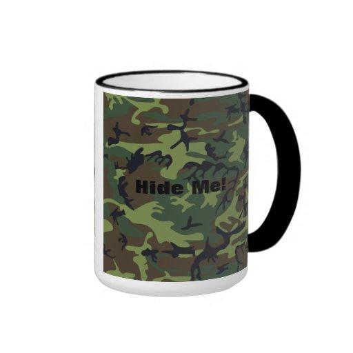 Camuflaje verde militar taza a dos colores