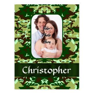 Camuflaje verde tarjetas postales