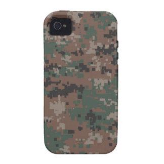 Camuflaje 'Vibe del arbolado de MarPat Digital iPhone 4/4S Carcasas