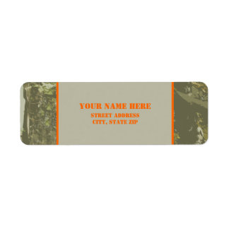 Camuflaje y etiqueta autoadhesiva anaranjada de la etiquetas de remite