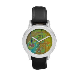 Camuflaje Zesty del aguacate Reloj De Mano
