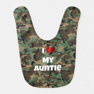 """Camúfleme """"aman mi babero de la tía"""" bebé"""