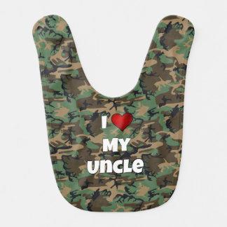 """Camúfleme """"aman mi babero del tío"""" bebé"""
