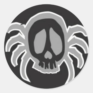 can am spyder skull medallion classic round sticker