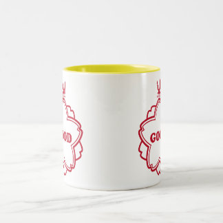 Can be made good the seal (red) which Two-Tone coffee mug