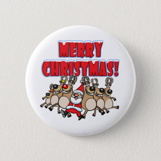 CAN CAN Merry Christmas! Button