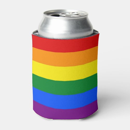 Can Cooler with Rainbow Pride flag of LGBT