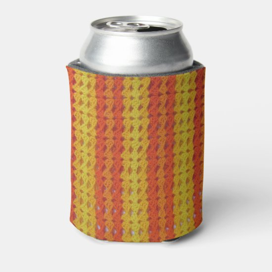 Can Cooler - Yellow and Orange crochet