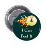Can Feel It Flaming Pinball 2 Inch Round Button