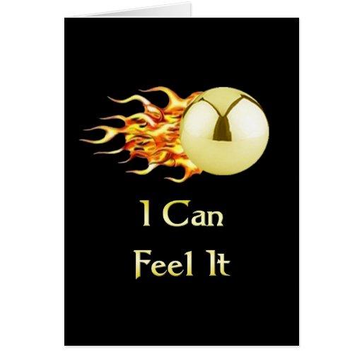 Can Feel It Flaming Pinball Card