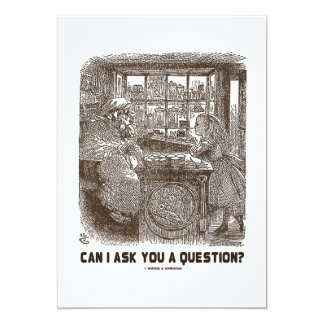 Can I Ask You A Question? (Alice Sheep) 5x7 Paper Invitation Card