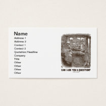 Can I Ask You A Question? (Alice Sheep) Business Card