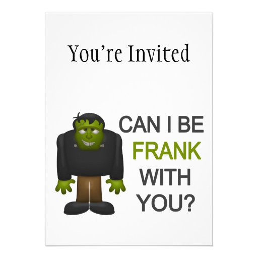 Can I Be Frank With You Announcement