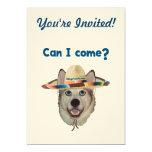 Can I Come Dog 5x7 Paper Invitation Card