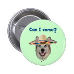 Can I Come Dog Buttons