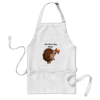 Can I Have a Hug Hedgehog Butterfly Friendship Adult Apron