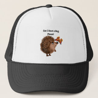 Can I Have a Hug Hedgehog Butterfly Friendship Trucker Hat