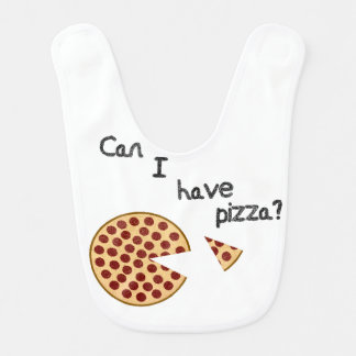 Can I have pizza? Baby Bibs