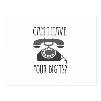Can I Have Your Digits? Post Cards