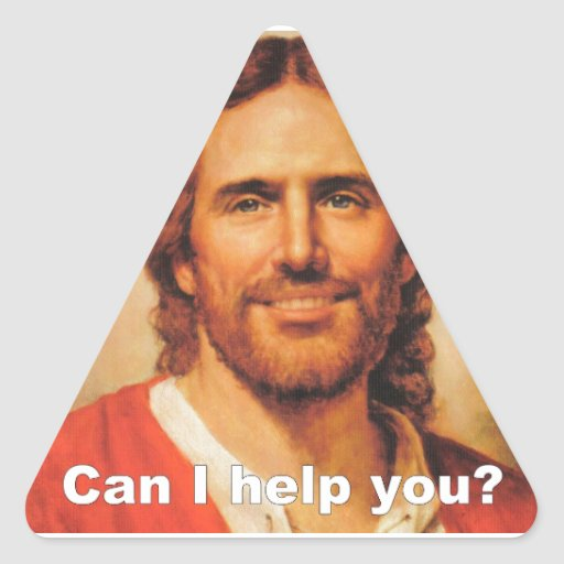Can I Help You? Triangle Sticker
