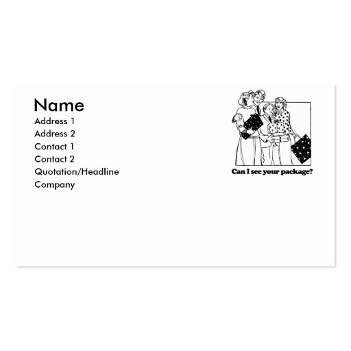 Can I see your package Double-Sided Standard Business Cards (Pack Of 100)