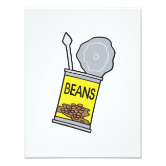 can of beans 4.25x5.5 paper invitation card