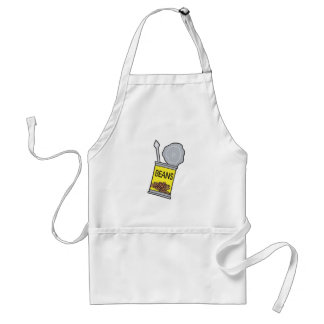 can of beans adult apron