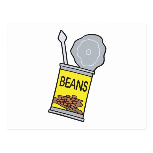 can of beans postcard