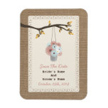 Can Of Daisies Burlap Inspired Fall Save The Date Rectangle Magnet