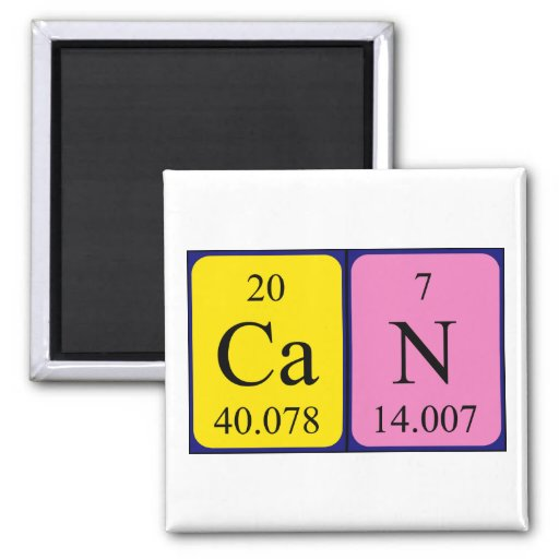 Can periodic table name magnet