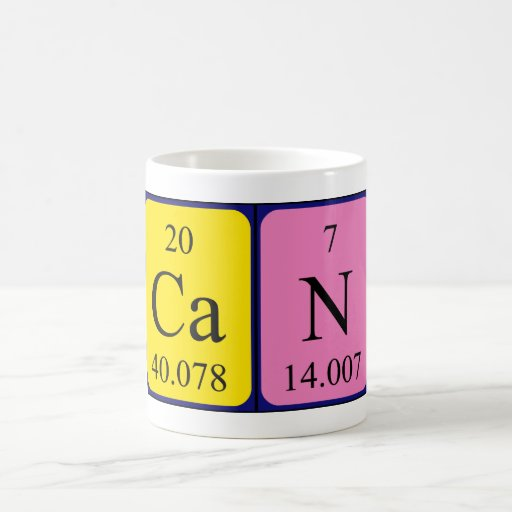 Can periodic table name mug