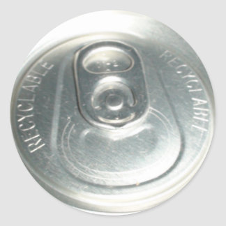 CAN PULL TAB CLASSIC ROUND STICKER