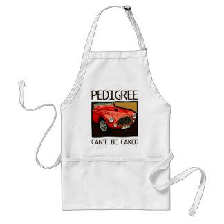 Can t fake race pedigree red classic racing car apron