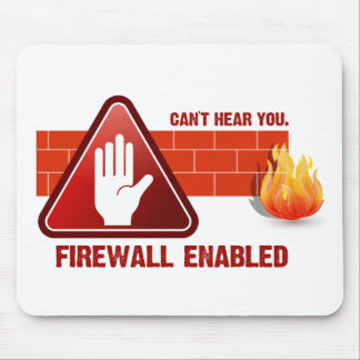 Can t hear you Firewall Enabled Mouse Pad