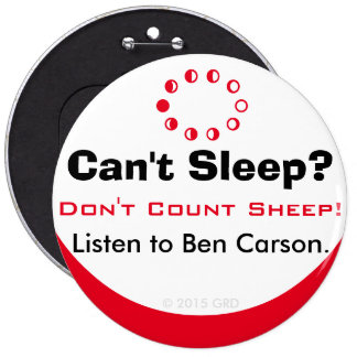 Can't Sleep Don't Count Sheep Listen to Ben Carson Button