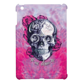 Can t tie me down nautical skull in pink cover for the iPad mini
