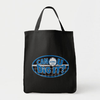 Can U Dig It? Blue and silver Bags