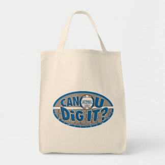 Can U Dig It? Blue and silver Bag