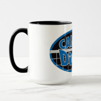 Can U Dig It? Blue and silver Mug