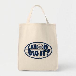 Can U Dig It? Dark Blue Canvas Bag