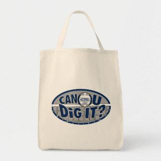 Can U Dig It? Dark Blue Canvas Bags