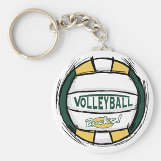Can U Dig It Green Gold Basic Round Button Keychain