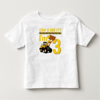 Can U Dig It? I'm 3 Tee Shirt