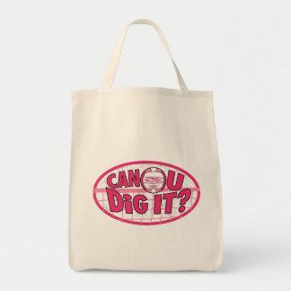 Can U Dig It? Pink Tote Bag