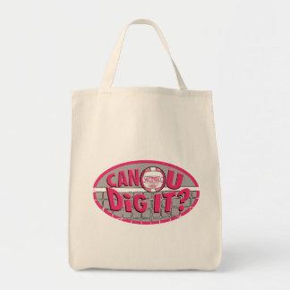 Can U Dig It? Pink Canvas Bag